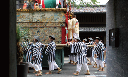 Launched at Kyoto's cultural crossroads Gion Festival floats parade right in front of your eyes